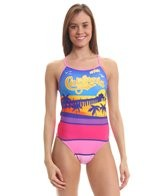 Splish California Dreaming Thin Strap One Piece Swimsuit