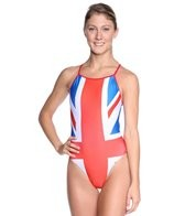 Splish Union Jack Thin Strap One Piece Swimsuit