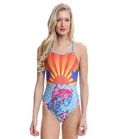 Splish Koi Sunset Thin Strap One Piece