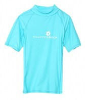 Snapper Rock Boys' Aqua S/S Rashguard (8-12yrs)