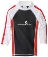 Snapper Rock Boys' Red/Grey/White L/S Rashguard (4-6yrs)