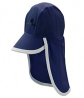 Snapper Rock Baby Boys' Aqua/White Flap Hat (Kids)