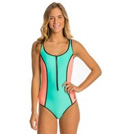 Body Glove Women's Neo What? Retro Zip One Piece Swimsuit