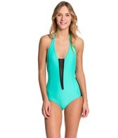 Body Glove Womens Neo What Glow One Piece Swimsuit