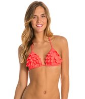 Quintsoul Great Coordinates Ruffled Triangle Bikini Top