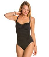 BLEU Rod Beattie Chain Reaction Retro Crossback One Piece Swimsuit