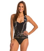 BLEU Rod Beattie Linked In Halter One Piece Swimsuit
