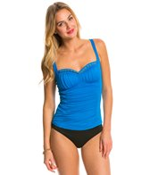 BLEU Rod Beattie Chain Reaction Cross Shirred Tankini Top
