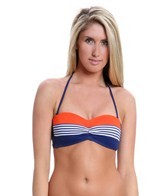 BLEU Rod Beattie Swimwear Graphic Measures Beandeau Bikini Top