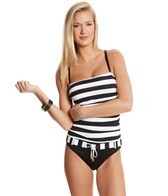 BLEU Rod Beattie Jailhouse Rock Shirred Front One Piece Swimsuit