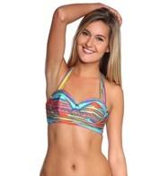 Nanette Lepore Sinaloa Stripe Longline Stargazer Underwire Bikini Top