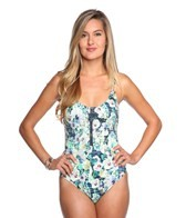 Nanette Lepore Hula Hibiscus Goddess One Piece Swimsuit