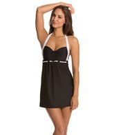 Nautica Women's Signature Halter Swim Dress