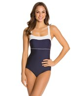 Nautica Women's Signature Classic One Piece Swimsuit