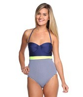 Splendid Malibu Stripe Underwire One Piece Swimsuit