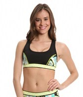 Trina Turk Modern Garden Cross-Back Sports Bra