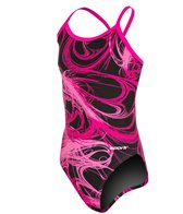 Sporti Light Wave Thin Strap Swimsuit Youth