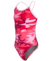 Sporti Modern Camo Thin Strap Swimsuit Youth (22-28)