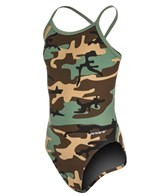 Sporti Modern Camo Thin Strap Swimsuit Youth