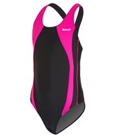Sporti Piped Splice Wide Strap Swimsuit Youth (22-28)