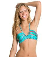 Luli Fama Mermaid Glitter Intertwine Scoop Halter Bikini Top