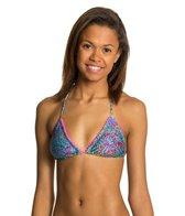 Luli Fama Agua Dulce Pom-Pom Triangle Bikini Top