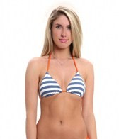 Splendid The Blues Reversible Triangle Bikini Top