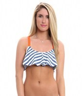 Splendid The Blues Adjustable Strap Crop Bikini Top