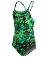 TYR Team Digi Camo Youth Diamondfit One Piece Swimsuit