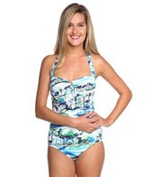 Tommy Bahama Scenic Harbor Halter One Piece Swimsuit