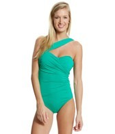 Tommy Bahama Pearl Solid One Shoulder One Piece Swimsuit