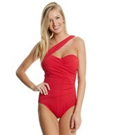 Tommy Bahama Pearl Solid One Shoulder One Piece