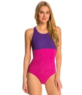 sporti-textured-high-neck-colorblock-one-piece-slimsuit