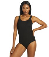 Sporti Textured Scoop Back Slimsuit