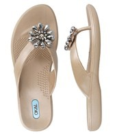 Oka-B Ashley Aged Gold Flip Flop