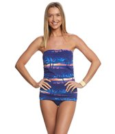 Tommy Bahama Sunset Sky Bandeau One Piece Swimsuit