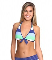 Tommy Bahama Skipper Stripe Reversible Halter Bra Bikini Top