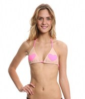 Lolli Lover Triangle Hearts Bikini Top