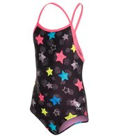 TYR Girls' Star Bright Diamondfit One Piece (4yrs-16yrs)
