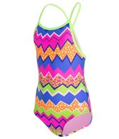TYR Girls' Swirl Pool Diamondfit One Piece (4yrs-16yrs)