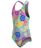 TYR Girls' Peace, Love, Swim Maxfit One Piece (4yrs-16yrs)