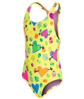 TYR Girls' Heart Beat Maxfit One Piece (4yrs-16yrs)