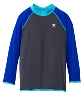 TYR Boys' Long Sleeve Solid Rashguard (4yrs-18yrs)