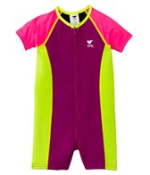 TYR Girls' UPF 50+ Short Sleeve Solid Thermal Suit (3yrs-10yrs)
