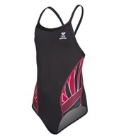 TYR Girls' Phoenix Splice Diamondfit One Piece Swimsuit