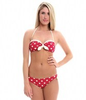Bettie Page Spots Bandeau Two Piece Bikini Set