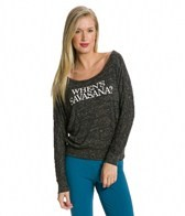Funky Yoga When's Savasana Flowy Long Sleeve Yoga Shirt