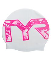 TYR Pink Graphic Swim Cap