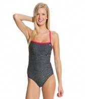 Nike Petite Dot Lingerie Tank One Piece Swimsuit