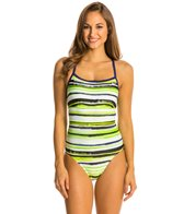 Nike Distressed Stripe Lingerie Tank One Piece Swimsuit